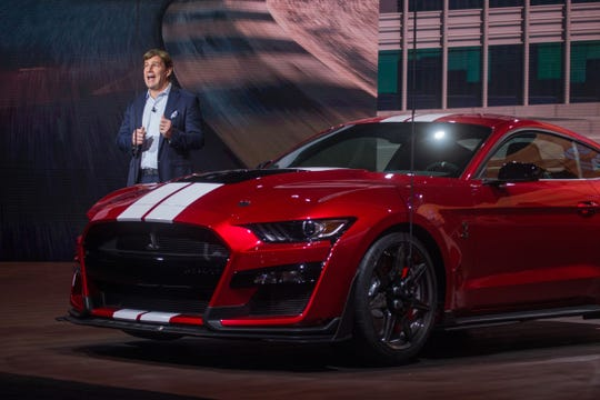 Jim Farley is president, New Businesses, Technology & Strategy at Ford Motor Company. In January, Jim Farley introduced the new 2020 Mustang Shelby GT 500 during the 2019 North American International Auto Show held at Cobo Center in downtown Detroit.
