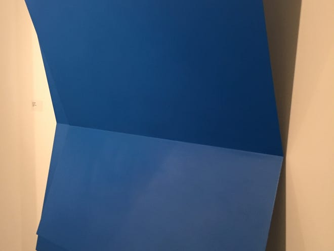 """""""Echo"""" by Lois Teicher, one of the few strongly colored pieces in the minimalist show at Detroit Artists Market."""