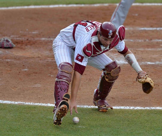 Tigers catcher Grayson Greiner played for South Carolina in the College World Series.