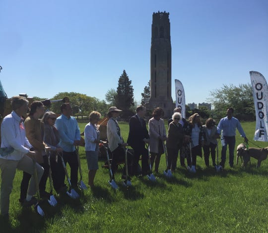 More than a dozen volunteers, fundraisers and landscape designers gathered Tuesday morning to break ground on the highly-anticipated Oudolf Garden Detroit on Belle. It'll be located in front of the Nancy Brown Peace Carillon.