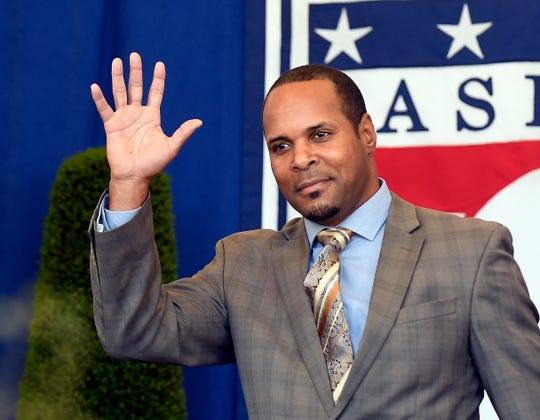 Barry Larkin was inducted into the Baseball Hall of Fame in 2017.