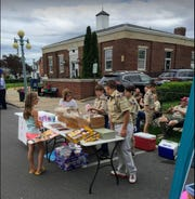 The Boy Scouts Troop 370 Table at the recent Oak Harbor Street Fair.