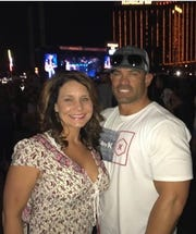 Stacey and Eddie Navarro at the Route 91 Harvest Festival in Las Vegas. Minutes after this picture was taken, the shooting began.