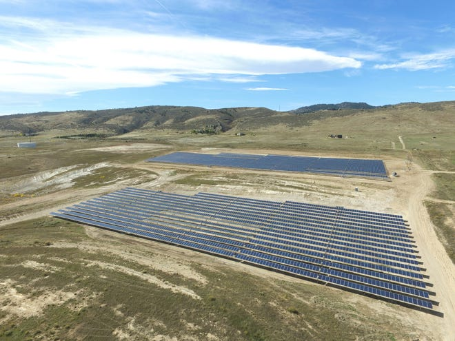 The Coyote Ridge Community Solar Farm, one of Poudre Valley Rural Electric Cooperative's renewable electricity resources, is located at the Larimer County Landfill.