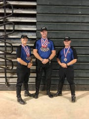 The Lee County Sheriff's Office mounted team that competed in the First Responder Games, part of  a ceremonial unit under the supervision of the Honor Guard, were Corporal Aaron Eubanks, Deputy First Class David Henson and Deputy First Class Theodore Schafer.