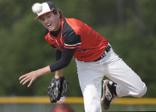 West De Pere junior Connor Langreder pitched his team to a Division 2 sectional championship against Seymour.
