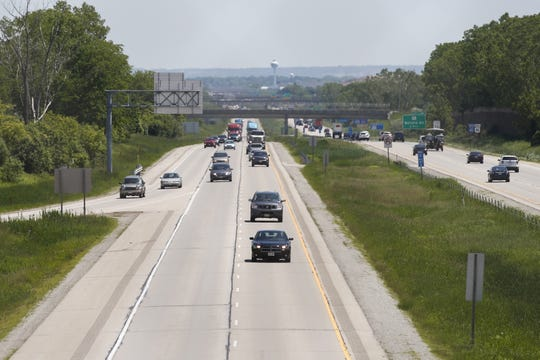 Traffic moves along Interstate 41 near Richmond Street in Appleton.