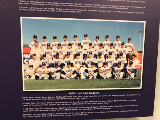 Among those on the 1989 Great Falls Dodgers were speedster Tom Goodwin and local pitcher Erik Madsen.