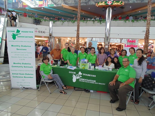 The Guam Diabetes Association conducted a community diabetes outreach on May 4 at the Micronesia Mall, center court. The event was sponsored by 2019 Asian and Pacific Islander (AAPIH) Month Diversity Health Fair. Pictured are GDA volunteers.