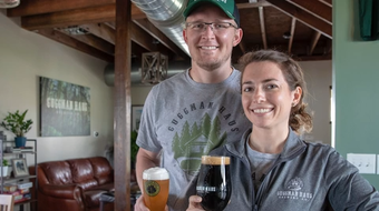 Courtney and Derek Guggenberger talk about Guggman Haus, their labor of love brewery due to open this weekend.