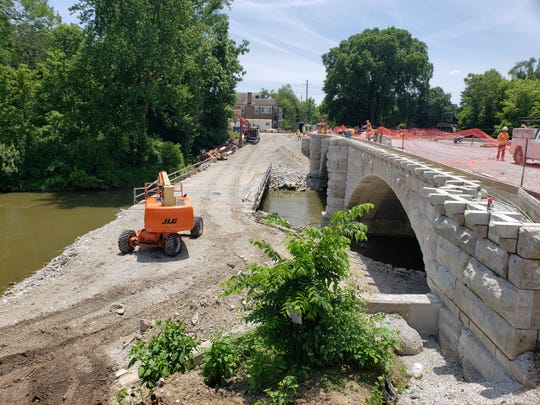The Central Avenue bridge is scheduled to reopen in mid to late July.