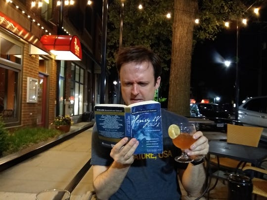 "Riverside Theatre director Adam Knight reading ""Henry IV, Part I"" as he plans out the staging of the play."