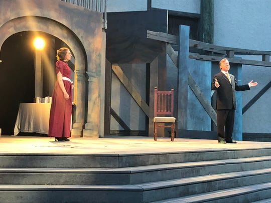 "The cast of Riverside Theatre's ""King Henry IV, Part I"" performs their first dress rehearsal on Monday, June 10, 2019."