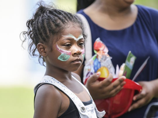 People gathered June 16, 2018 in Buttermilk Creek Park to celebrate Juneteenth. A June 19, 1865, announcement of the abolition of slavery in the U.S. state of Texas. Doug Raflik/USA TODAY NETWORK-Wisconsin