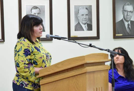 Amanda Everitt,  executive director for Downtown Destination Lancaster, offers her support of the city's proposed community reinvestment area (CRA) to Lancaster City Council Monday night. The CRA would provide property tax exemptions for 15 years for new housing units.