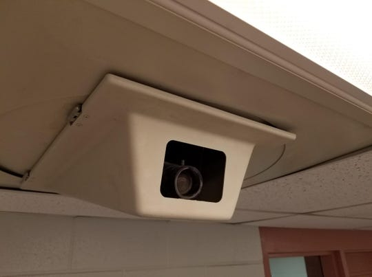 A camera seen in the Livingston County Jail on Tuesday June 11, 2019. The county's 2020-25 master plan - approved during the county Board of Commissioners meeting Monday - includes replacing 120 cameras, many of which have been in use for more than 20 years.