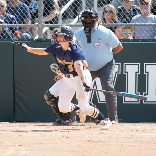 Brooke Cowan had a two-run triple for Hartland in an 11-3 softball quarterfinal loss to Clarkston on Tuesday, June 11, 2019 at Novi.