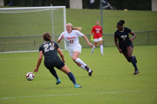 Virginia women's soccer player Zoe Morse, an East Lansing native, is playing for Lansing United this summer.