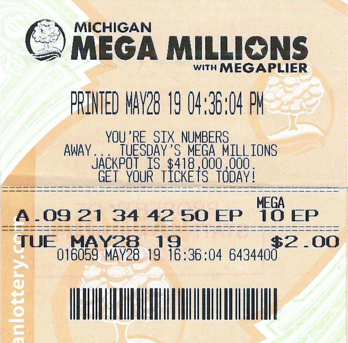 Mulliken man wins $1 million in Mega Millions drawing