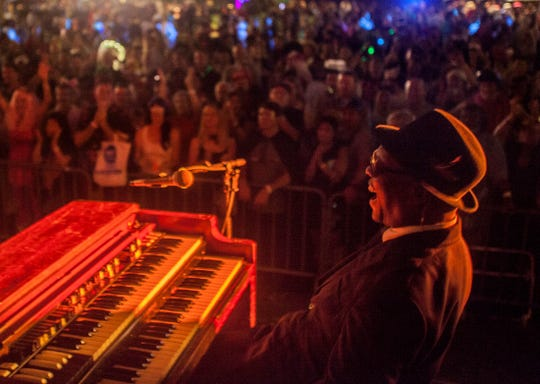 Booker T. Jones performs at Halloballoo in downtown Honolulu Oct. 31, 2015.