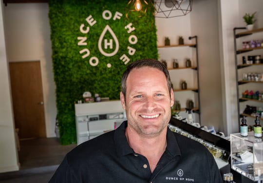 Collin Bercier was inspired to open Ounce of Hope, a CBD dispensary, following the death of his mother who suffered from multiple sclerosis. The dispensary is now open at 553 Cooper St. in Midtown.