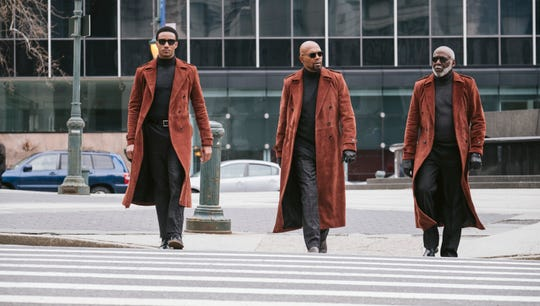 "Three generations of that bad mother (shut your mouth), played by Jessie Usher (from left), Samuel Jackson and Richard Roundtree, join forces in ""Shaft."""