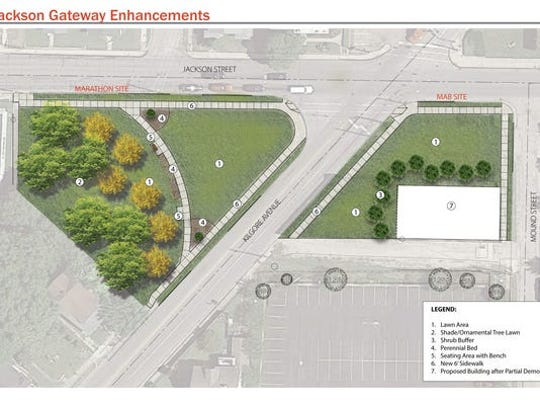 A former abandoned gas station will look like this drawing when completed this summer. MRC drawing