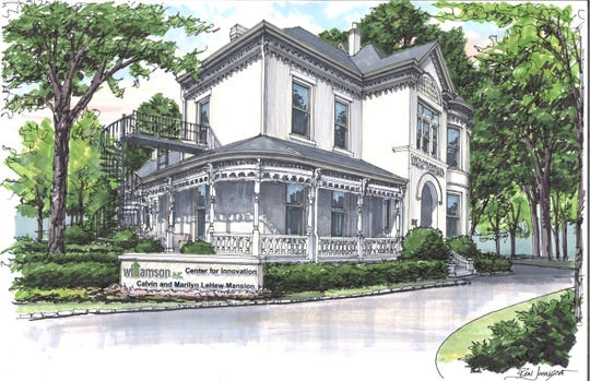 The Fleming-Farrah mansion — renamed now the LeHew Mansion after donors — will feature an innovation hub spurred by Williamson, Inc.