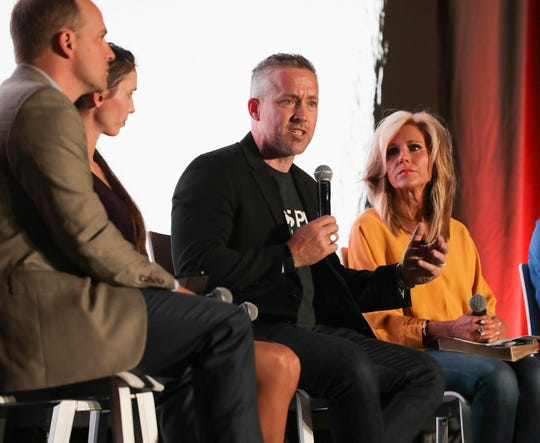 Southern Baptist Convention President J.D. Greear speaks during a sexual abuse panel discussion at the annual convention of the Southern Baptist Convention in Birmingham, Alabama, on June 10, 2019.