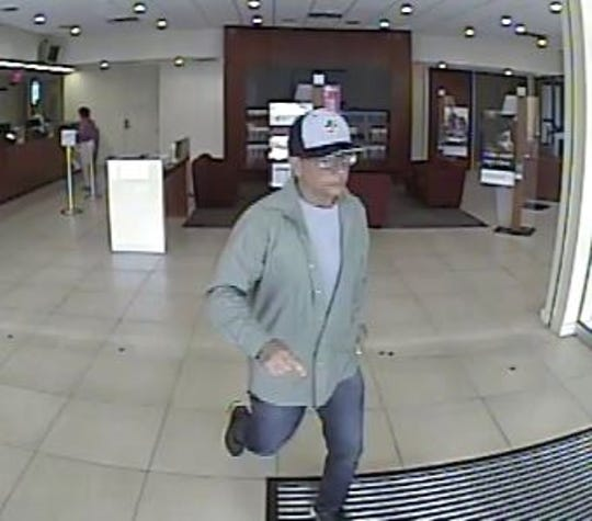 Collier County Sheriff's deputies are searching for this man, accused of robbing Bank of America on Tuesday 6/11/19 morning.