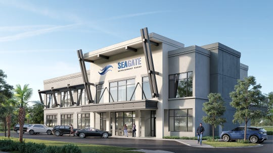 Theory Design's Vice President of Design Ruta Menaghlazi has completed the preliminary interior design for Seagate Development Group's new two-story office building now under construction at Interstate 75 and Alico Road.