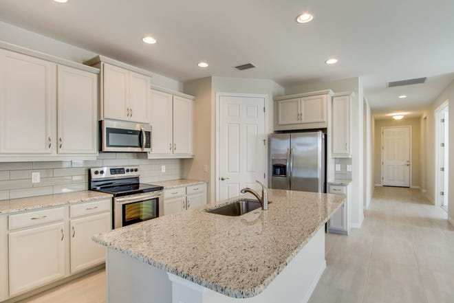 Quick move-in homes with lake views available in Venetian Pointe.