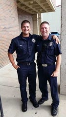 Newark firefighter Kyle Weekly (left) and his brother Newark firefighter Jeremy Weekly (right).