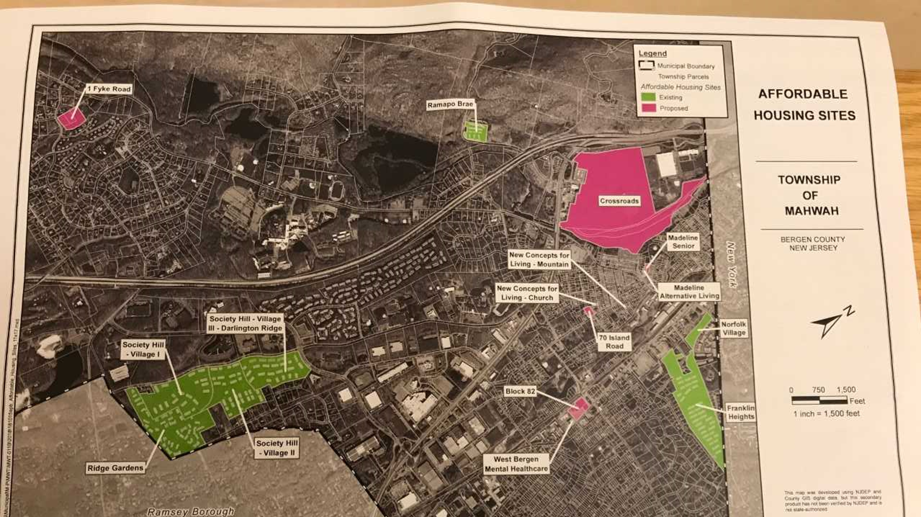 Mahwah NJ planners approve plan for affordable housing sites