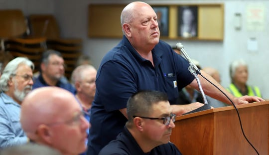 Deming resident Larry Lutonsky addressed the city council on Monday.