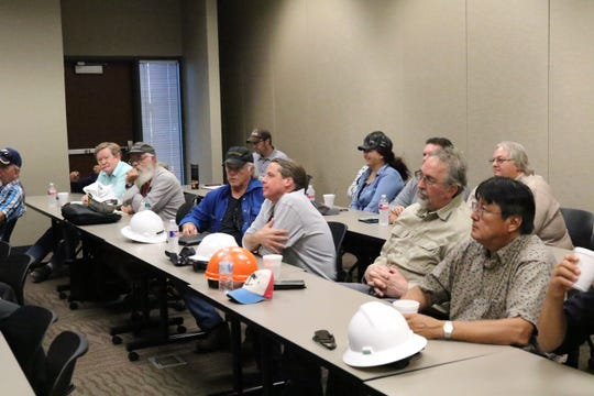 Workers from the New Mexico Oil Conservation Division attend a safety lecture hosted by XTO Energy, June 11, 2019 at New Mexico Junior College.