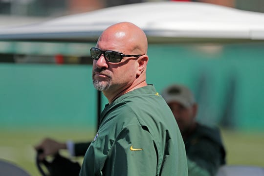 Green Bay Packers defensive coordinator Mike Pettine during a June practice.