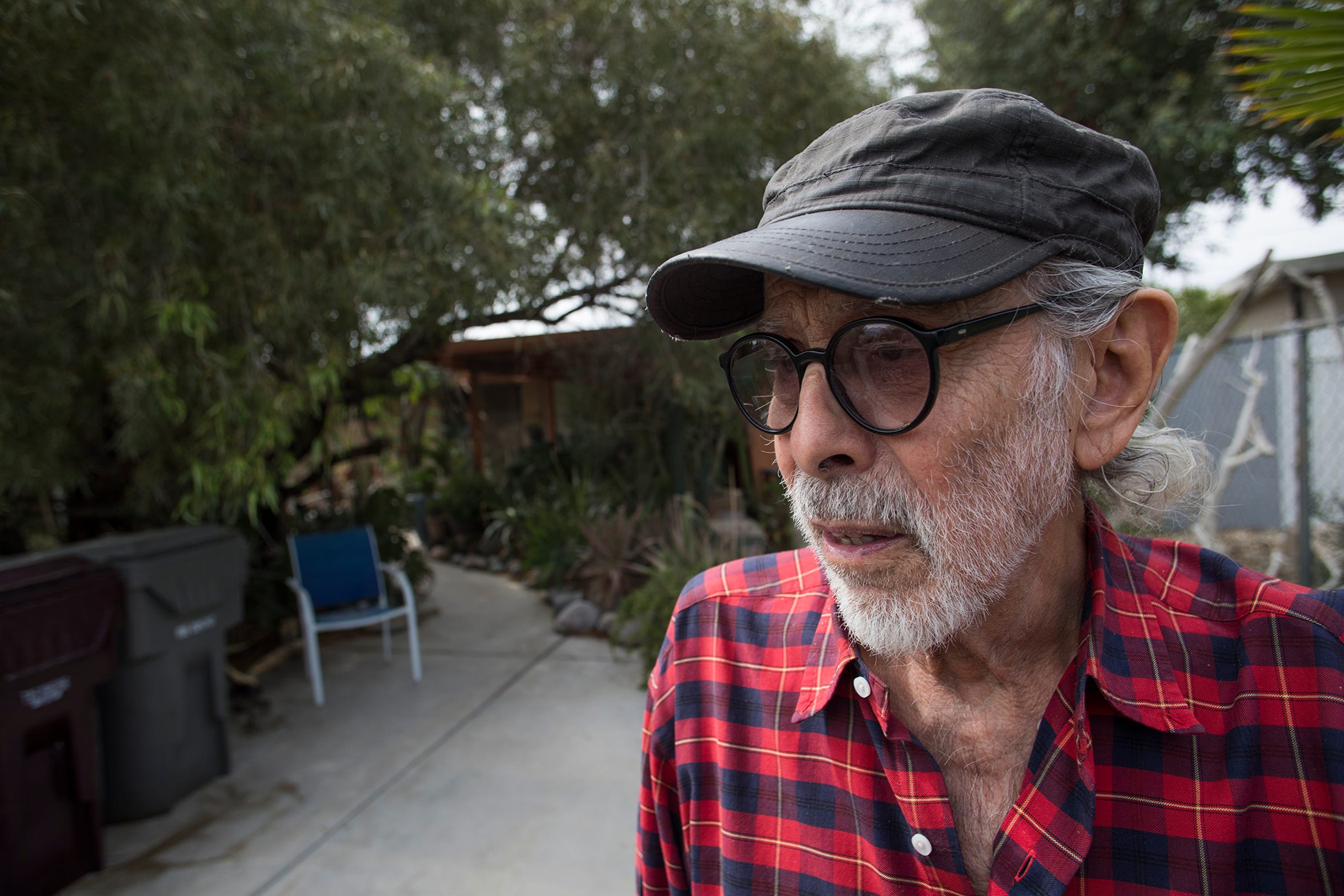 Edmund Dantez de Guerrero outside his home in Cathedral City, Calif., May 15, 2019. Dantez de Guerrero took out a reverse mortgage more than a decade ago but fell behind on his property taxes, defaulting on his mortgage.