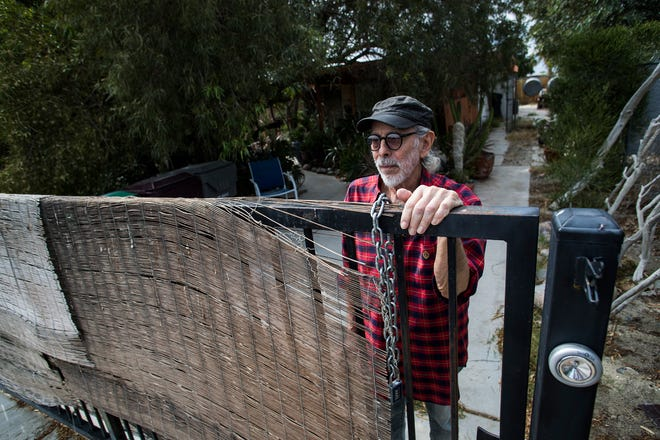 Edmund Dantez de Guerrero stands outside his home in Cathedral City, Calif., May 15, 2019. Dantez de Guerrero took out a reverse mortgage more than a decade ago but fell behind on his property taxes, defaulting on his mortgage.