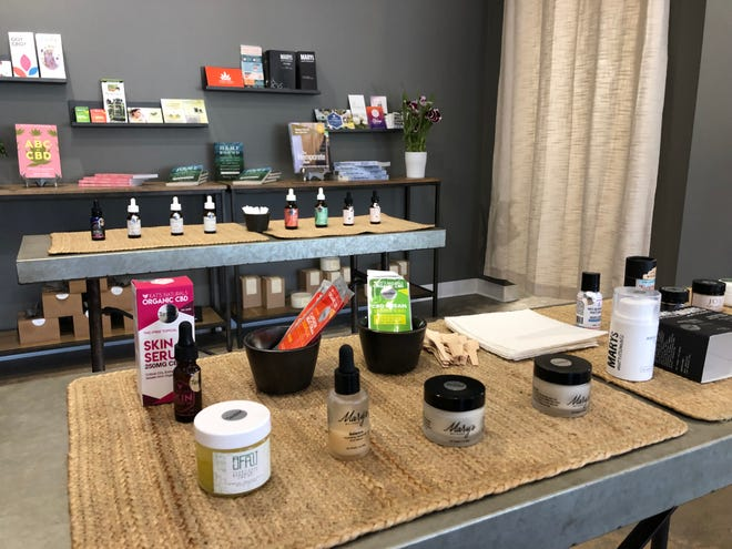 """Kaya Hemp Co.'s in-store """"apothecary,"""" where customers can sample different CBD products."""