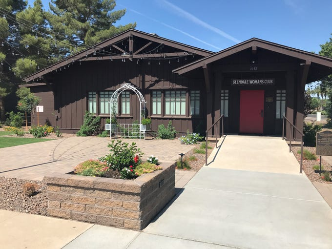 The front of the newly-renovated Glendale Woman's Club.