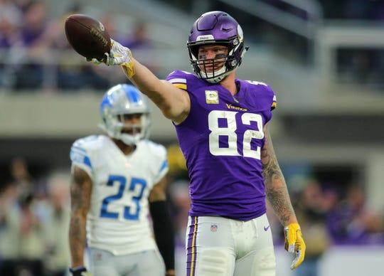 Kyle Rudolph, ala cerrada de los Vikingos de Minnesota.