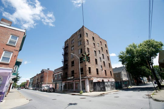 The corner of Cannon Street and Academy Street in the City of Poughkeepsie on June 11, 2019.