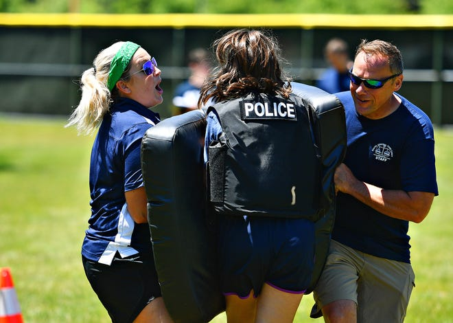 Youth ages 13-15 participate in The Pennsylvania State Police South Central Camp Cadet at York College of Pennsylvania in Spring Garden Township, Tuesday, June 11, 2019. Dawn J. Sagert photo