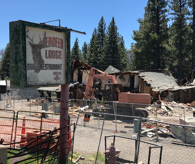 The Reindeer Lodge on 9000 Mt. Rose Highway on July 11, 2019. The building is being demolished after its roof collapsed due to heavy snowfall in 2017.