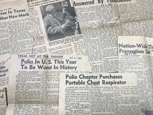 San Angelo continued to have polio outbreaks in the summer until Dr. Jonas Salk's miracle vaccine became available in 1955.