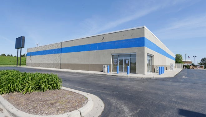 The exterior of Gander Outdoors as seen, Tuesday, June 11, 2019, in Sheboygan, Wis. The firm recently closed the Sheboygan location.