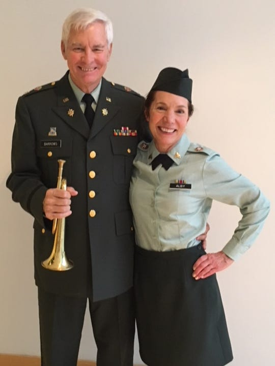 "Conrad Barrows and his partner Susan Alby during the 2017 ""Movers and Shakers of Sheboygan County"" competition at Lakeland University in Sheboygan. The pair won the dance competition and donated $10,000 to the Wisconsin Military Network"