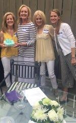 Lynn Homza, Leslie Rainer, Rishea Richards, Elizabeth Miller at Panhellenic meeting.