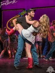 "Scenes from Springfield Little Theatre's production of ""Footloose the Musical."""